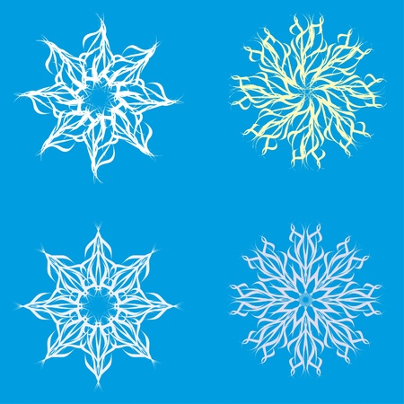 abstract isolated snowflake. Illustration. Vector