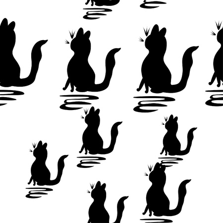 abstract pattern with cats Vector