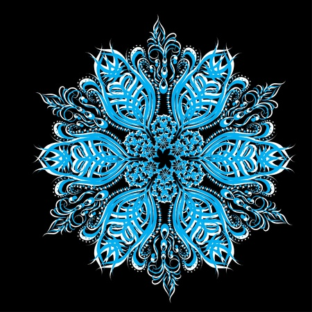 Abstract isolated snowflake. illustration. Stock Vector - 11383561