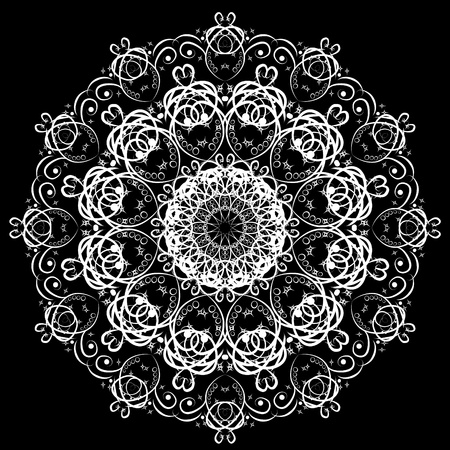 Abstract isolated snowflake. illustration. Illustration