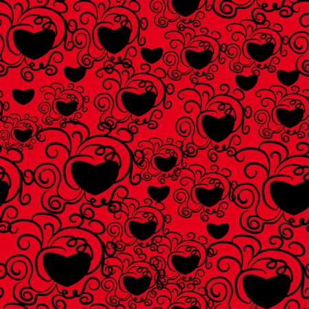 abstract love seamless pattern Vector