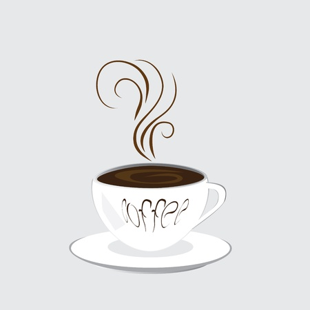 The isolated cup from coffee Vector