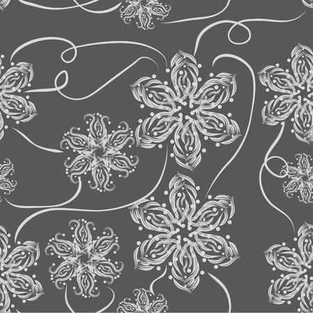 abstract seamless pattern with flowers Stock Vector - 11383672