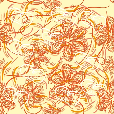 abstract seamless pattern with flowers Stock Vector - 11383927