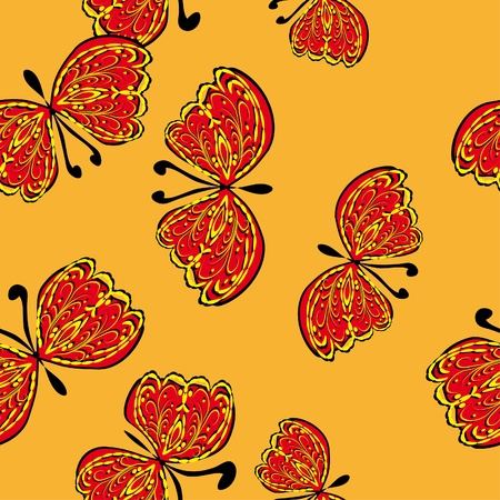 abstract seamless pattern with butterflies Vector