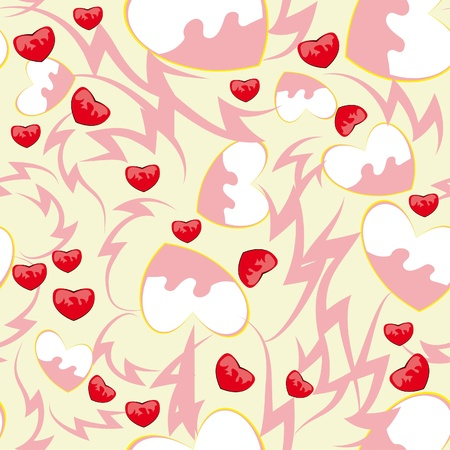 abstract love seamless pattern with hearts Stock Vector - 11384030