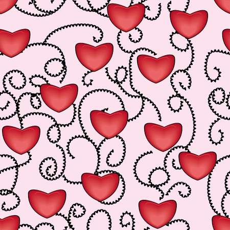 abstract love seamless pattern with hearts Stock Vector - 11384071