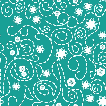 abstract seamless pattern with flowers Vector