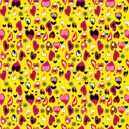 abstract love seamless pattern with hearts Stock Vector - 11868480