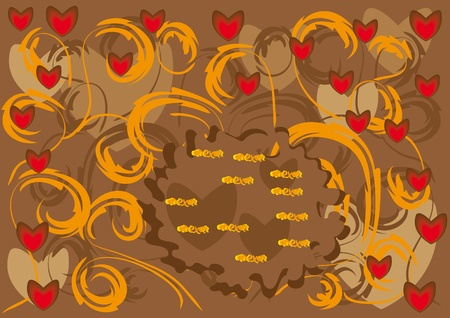 abstract love background. Vector illustration Vector