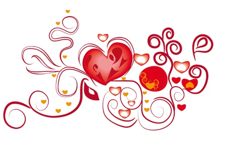 illustration with love abstract heart Stock Vector - 11999084