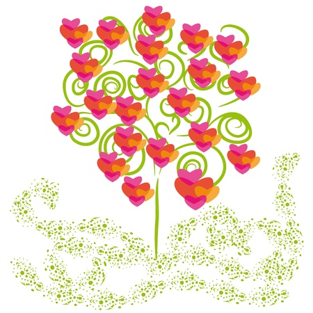 abstract love  vector tree on isolated background Stock Vector - 12150586