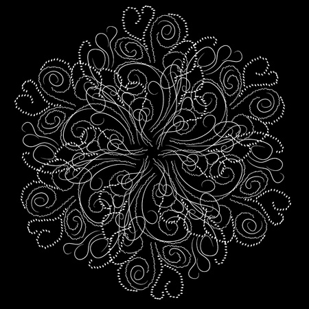Abstract isolated vector snowflake. illustration. Illustration