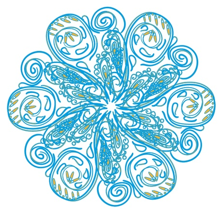 Abstract isolated vector snowflake. illustration. Stock Vector - 12436500