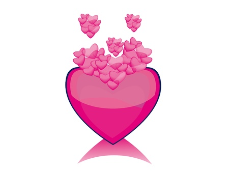 hart: love isolated heart. Abstract vector illustration