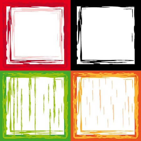 set of abstract frame. Vector illustration Illustration