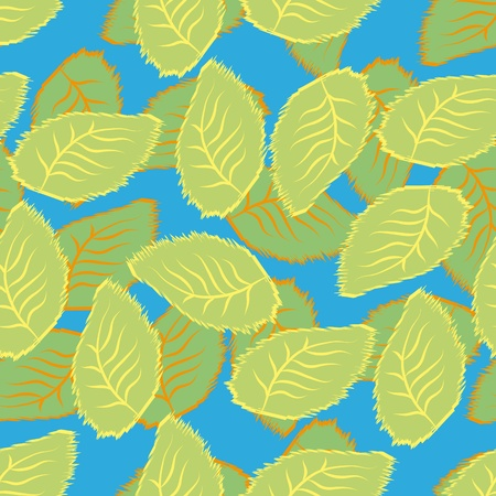 abstract seamless pattern with leaves. Vector illustration Vector
