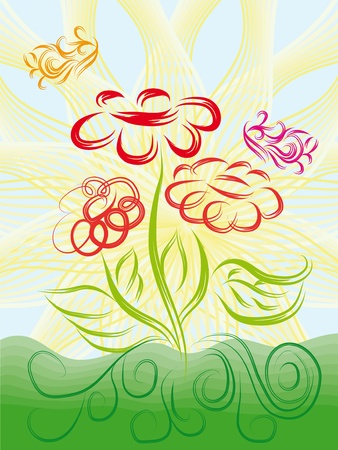abstract isolated flower. vector illustration Stock Vector - 12830457