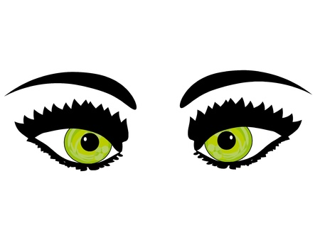 Beautiful female green eye.Vector illustration Stock Vector - 12830436