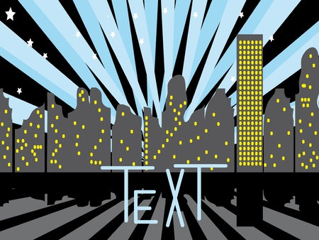 City night. Abstract vector illustration Vector