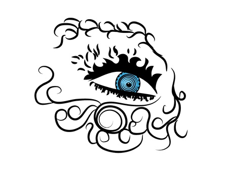 Beautiful female eye.Vector illustration Stock Vector - 12830507