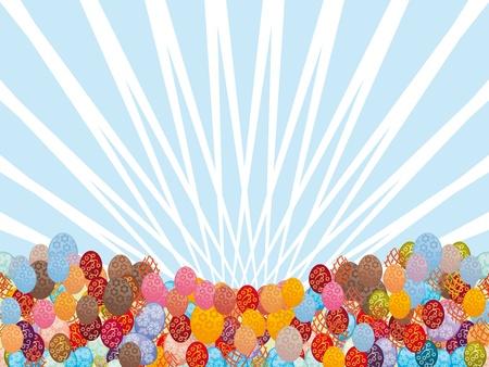 easter egg on colorful background. Illustration. Vector