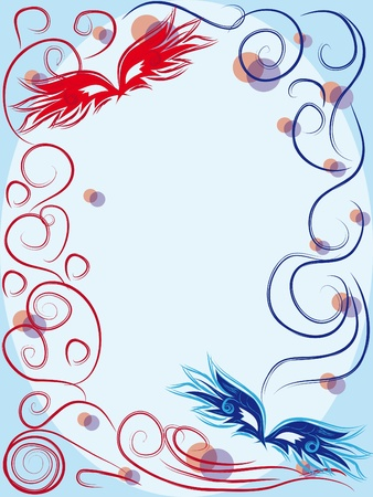 vector carnival masks. abctract background. illustration Vector
