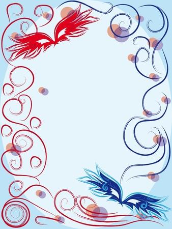 firework display: vector carnival masks. abctract background. illustration Illustration