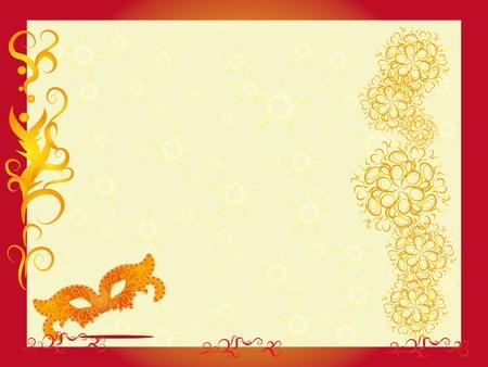 vector carnival masks. Abstract background. illustration Vector