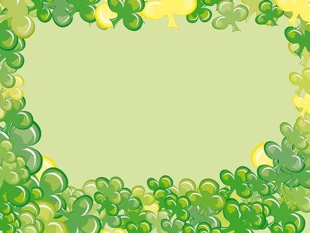 leaves of clover, frame for St. Patrick's day Stock Vector - 12945604