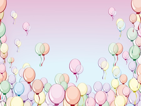 Beautiful gentle background with multi-colored balloons Stock Vector - 12945615