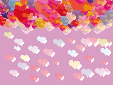 pattern with colorful hearts. Illustration Vector