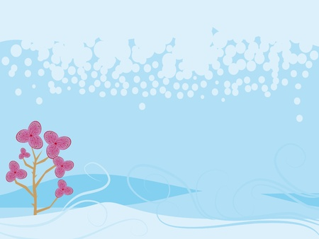 Original winter background with a beautiful flower Stock Vector - 12945482