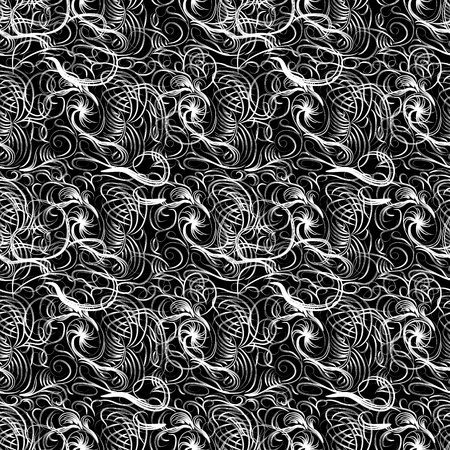 abstract seamless pattern with curling branches Vector