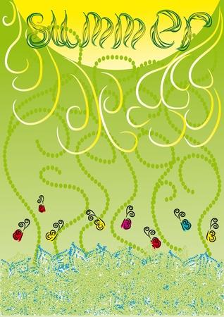 Green gentle abstract background of summer. vector illustration Vector