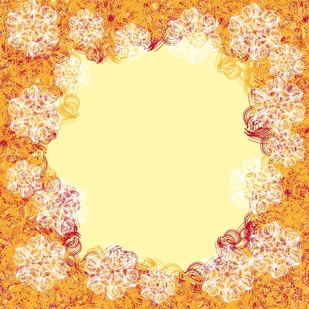 abstract frame with gentle flowers and different curls .Vector pattern Vector