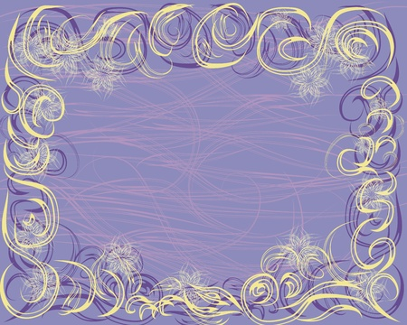 abstract seamless pattern frame with curling branches.  illustration