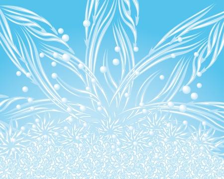 elegante sfondo blu astratto di illustrazione inverno