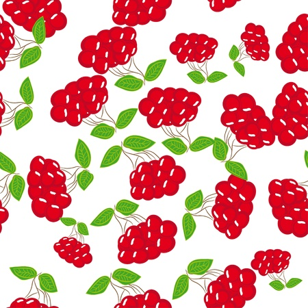 abstract seamless pattern with berries. illustration Vector