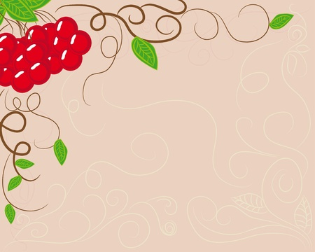 abstract frame with berries. illustration Vector
