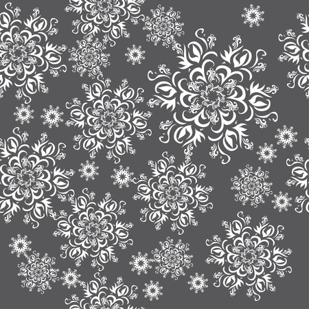 winter floral seamless with snowflakes  illustration Stock Illustration - 13255781