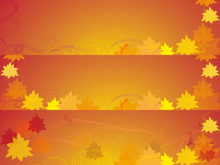 set of bookmarks on an autumn subject with elements of curls and leaves  Raster picture photo