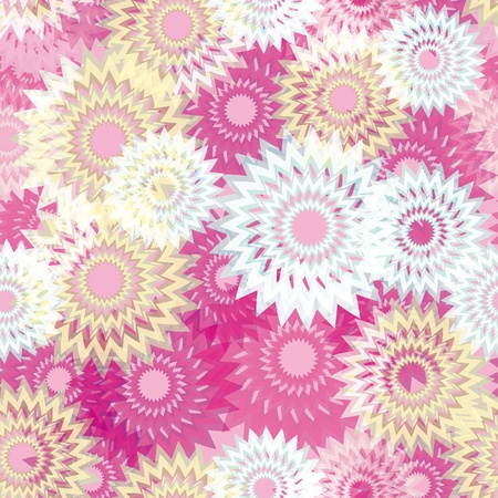 abstract seamless pattern with colorful flowers. Universal background on all seasons. Vector eps10. Stock Vector - 13323604
