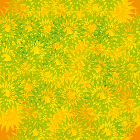 abstract seamless pattern with flowers. Vector
