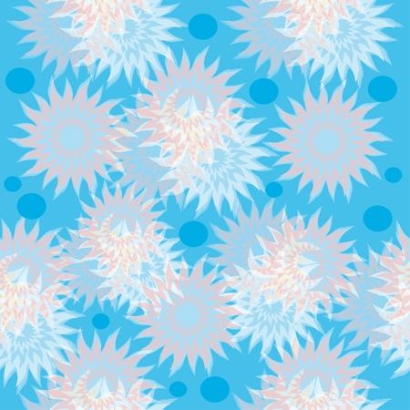 abstract seamless pattern with colorful flowers. Universal background on all seasons. Vector eps10. Stock Vector - 13323601