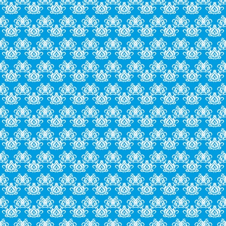 abstract seamless pattern with white elements on a blue background Vector