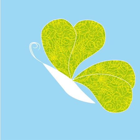 Decorative paradise butterfly on isolated background Vector
