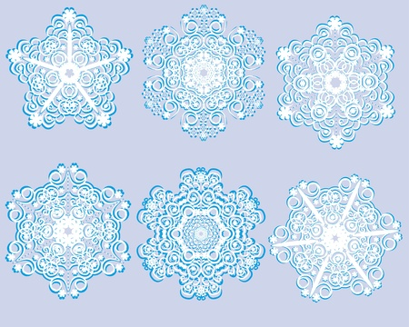Abstract isolated vector flower or snowflake. illustration. Vector