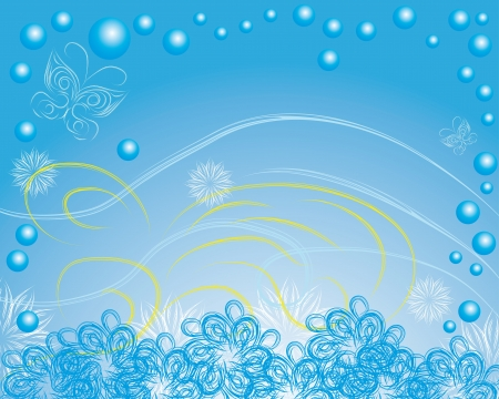 stylish blue abstract background of winter Vector