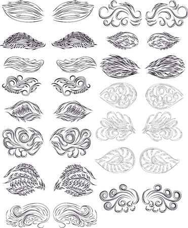 set of abstract wings Stock Vector - 13833275